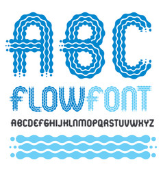 Set trendy pop capital english alphabet vector