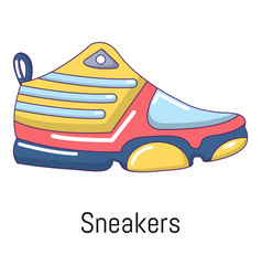 sneakers icon cartoon style vector image