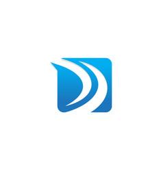 Square arrow up abstract company logo vector