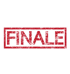stamp text finale vector image