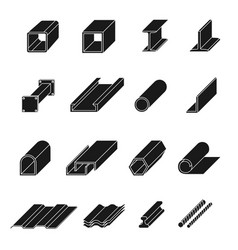 Steel product set vector