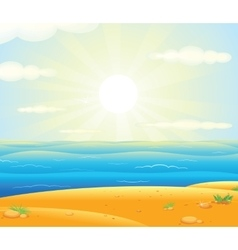 Sunrise over the Tropical Beach vector image
