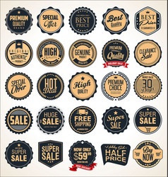 super sale retro badges and labels collection vector image