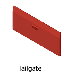 Tailgate icon isometric style vector