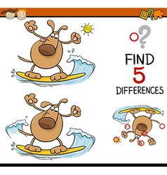 Task of differences cartoon vector
