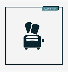 toaster icon simple vector image