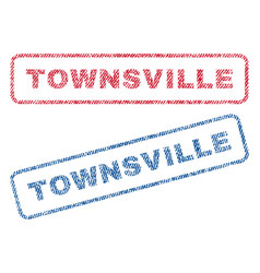 Townsville textile stamps vector