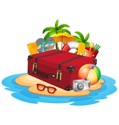 Travel element on island vector