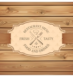 Vintage restaurant menu board template vector image