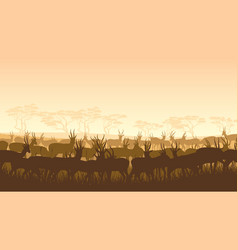 wild animals in african savanna vector image