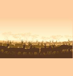 Wild animals in african savanna vector