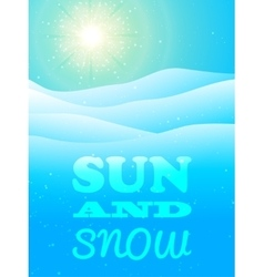 Winter background with snow vector image