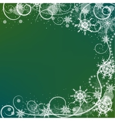 Winter greeting card with snowflakes frame vector