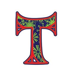 Winter letter T vector
