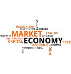 Word cloud - market economy vector
