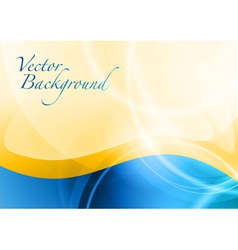 background abstract blue and orange wave text vector image vector image