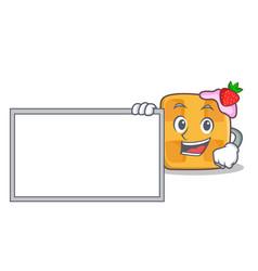 bring board pose waffle character cartoon design vector image