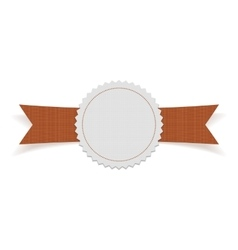 Greeting Label with orange Ribbon vector image vector image