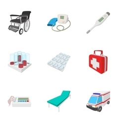 Healing icons set cartoon style vector image vector image