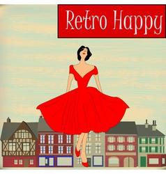 Retro Happy vector image vector image