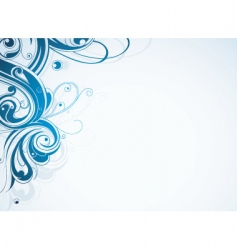 swirl border vector image vector image