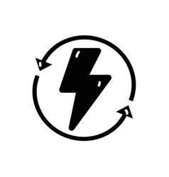contour energy hazard symbol with arrows around vector image