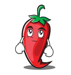 Eye roll red chili character cartoon vector