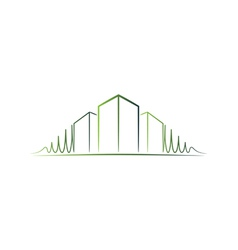 Green architect logo vector image vector image