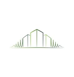 Green architect logo vector image vector image