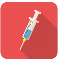 Medical syringe icon vector image vector image