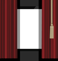 red curtains to the theatre stage vector image vector image