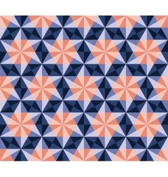 Seamless Blue Pink Navy Hexagonal Triangles vector image