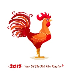 The Red Fire Rooster vector image vector image