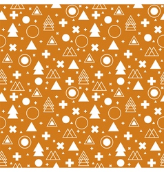 Tribal background Ethnic geometric seamless vector image vector image