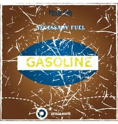 Vintage gasoline poster vector image vector image