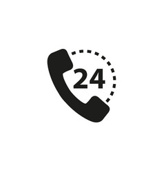 handset of 24 black icons vector image