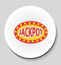 jackpot winnings inscription sticker icon flat vector image vector image