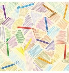 pencil strokes Hand-drawn lines vector image