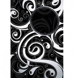 swirl design background vector image