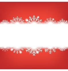 Christmas background with snowflakes and copyspace vector image