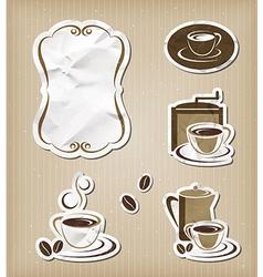Coffee menu vintage set vector image