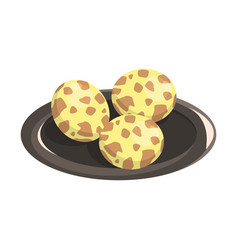 quail eggs food item rich in proteins important vector image