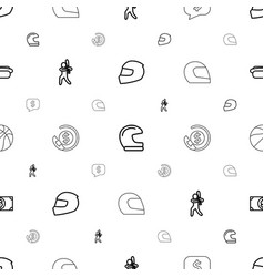 American icons pattern seamless white background vector