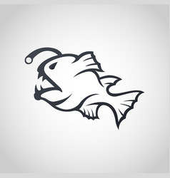 anglerfish logo icon design vector image