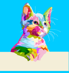 Animal cat cute colorful vector