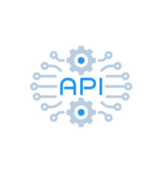 Api technology icon on white vector
