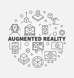 Augmented reality circular concept ar vector