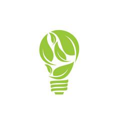 Bulb leaf logo vector