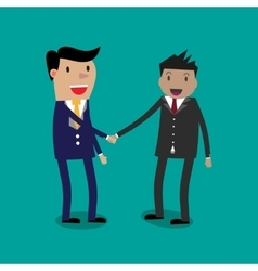 Businessmans shaking hands vector image