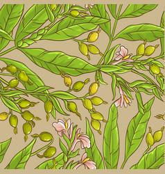 Cardamom pattern vector
